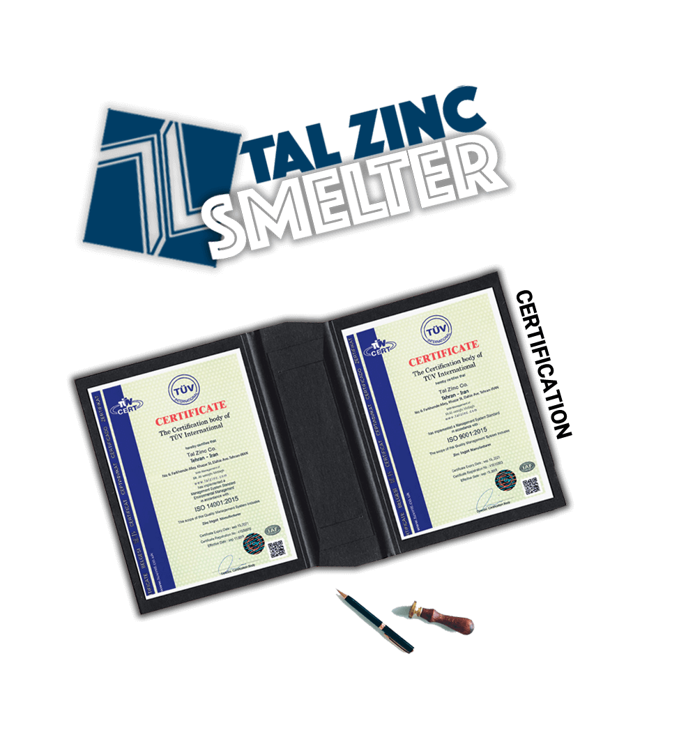TALZINC jam company certificates